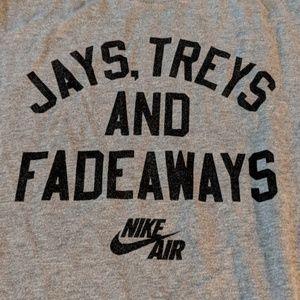 cc46f5f7 Nike Shirts & Tops - Nike 🏀Jays Treys & Fadeaways🏀 Tshirt Kids XL